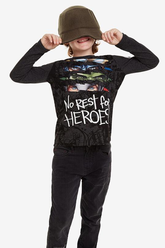 T-shirt déchirures Marvel   Desigual