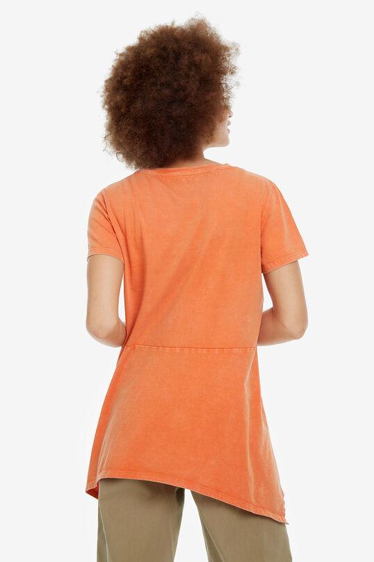 Orange Asymmetric T-shirt Munich | Desigual