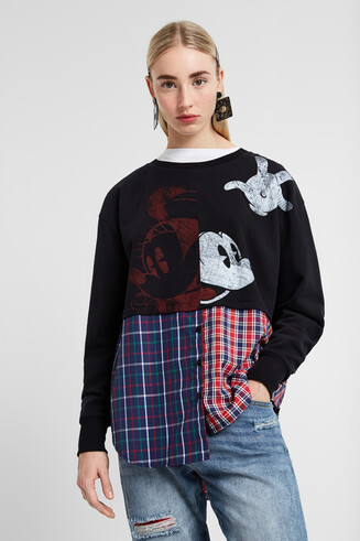 Hybride sweater met Mickey Mouse