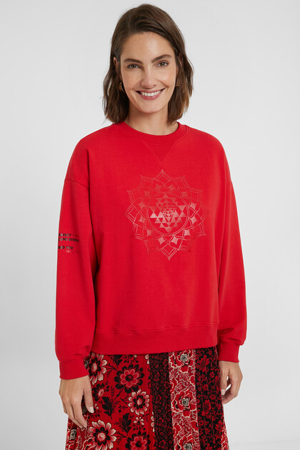 Sweat-shirt oversize mandala