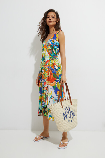 Robe de plage tropicale
