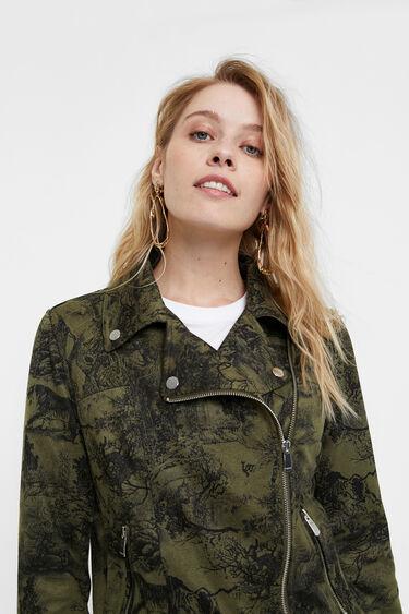 Slim fit biker jacket | Desigual