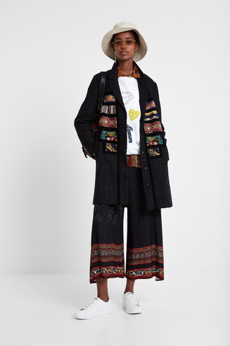 Boho patch coat