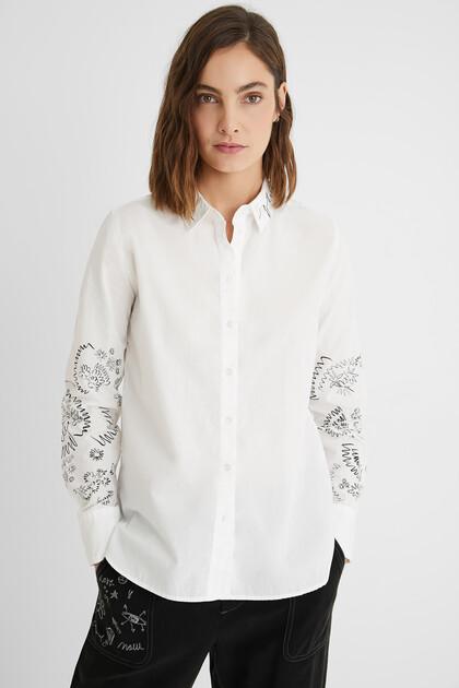 Regular cotton shirt
