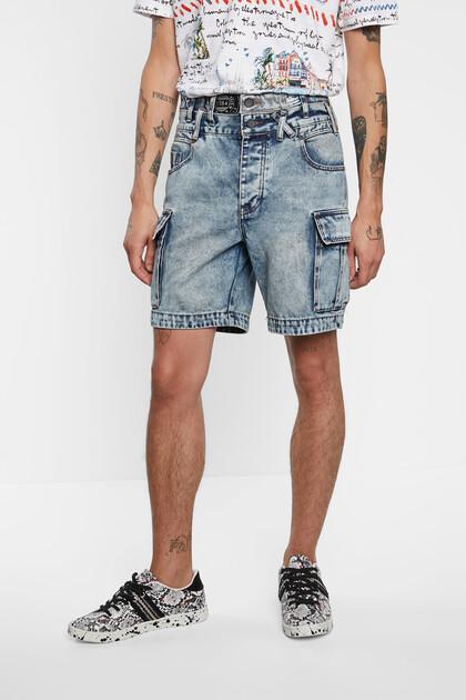 Kurze Cargo-Jeans