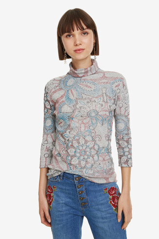 Brooklyn Floral Polo Neck T-Shirt