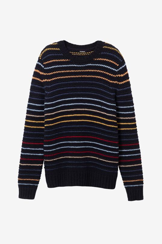 Jersei de tricot ratlles multicolor   Desigual