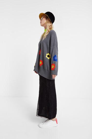 オーバーサイズ花柄セーター | Desigual