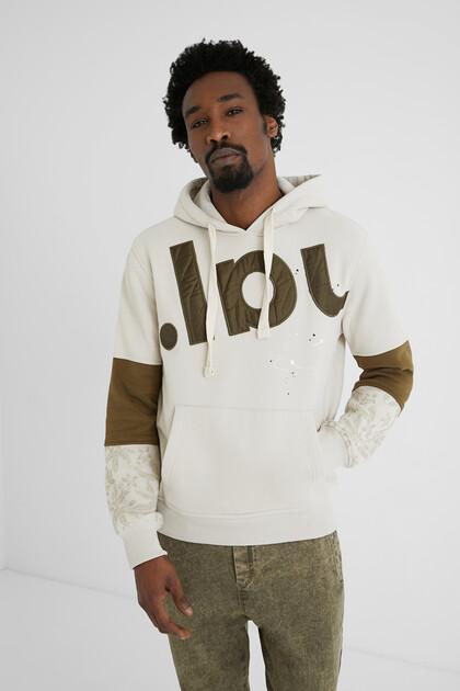 Plush hooded sweatshirt