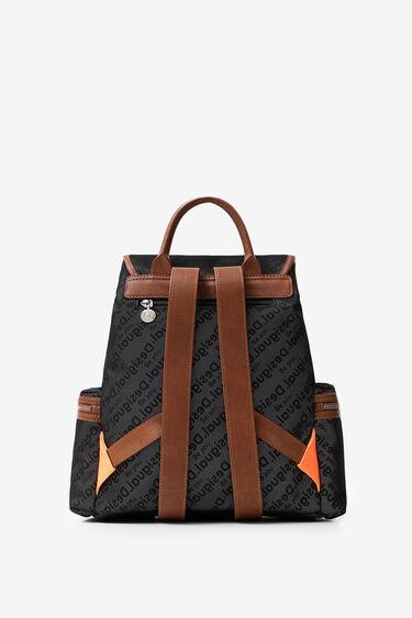 Reflective logomania backpack | Desigual