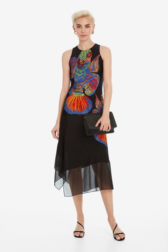 Asymmetrische jurk met vissen Cristin | Desigual