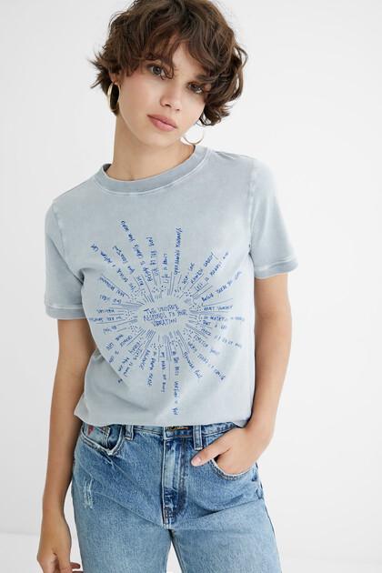 T-shirt mensagens 100% algodão