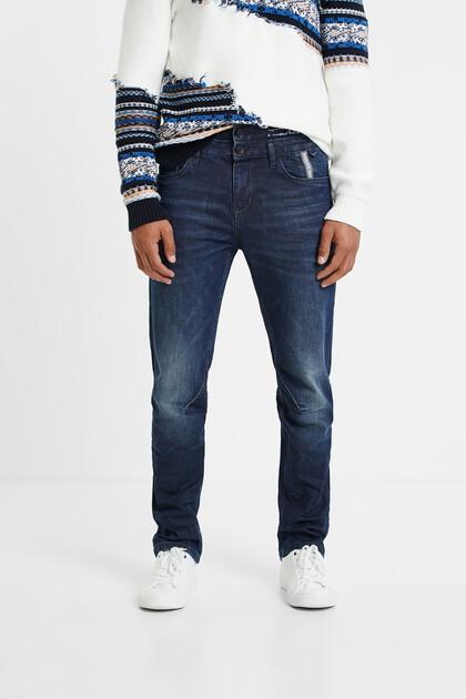 Jeans con girovita doppio
