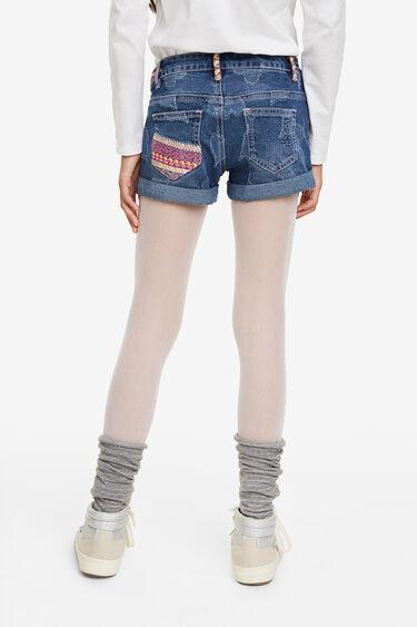 Hearts denim shorts | Desigual