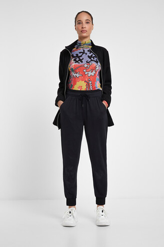 Flowing trousers drawstring
