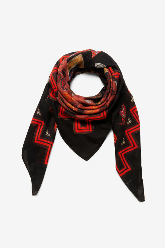 Square paisley scarf | Desigual