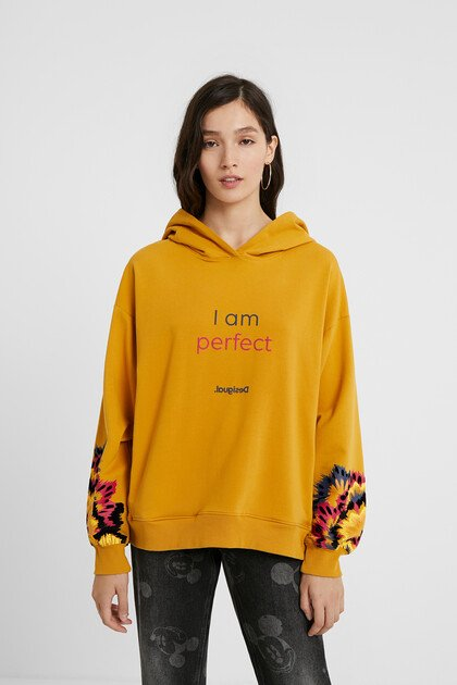Hooded sweatshirt message