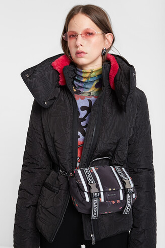 Padded jacket removable collar