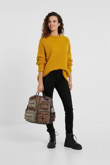 Patchworkowy plecak z licznymi kieszeniami | Desigual