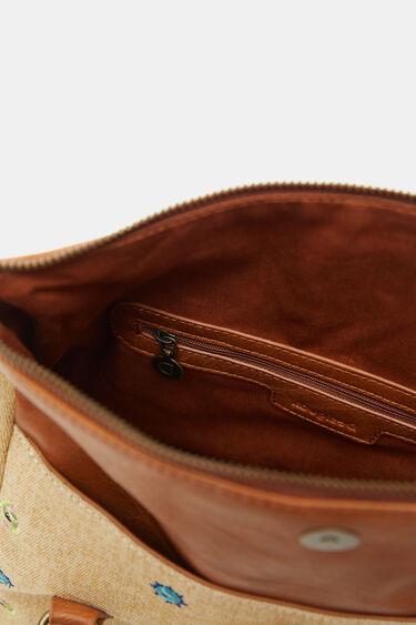 Handbag cotton embroidered | Desigual