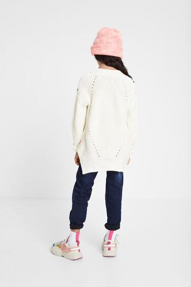 Pullover tricot parche floral | Desigual