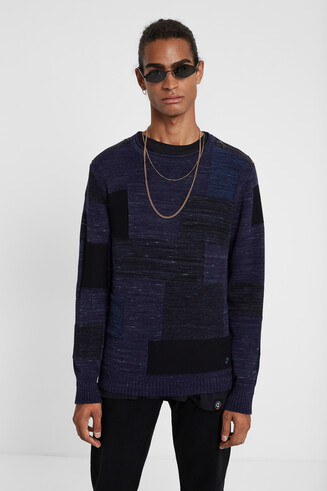Long-sleeved knit jumper