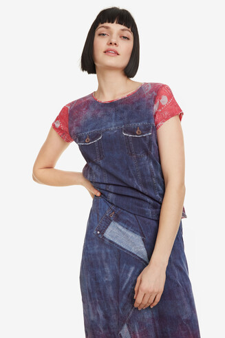 Denim-effect T-shirt Denia