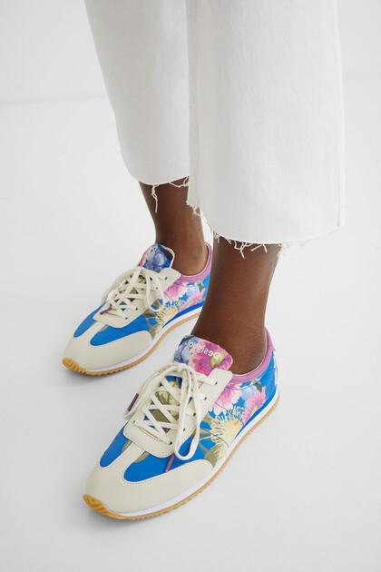 Schuhe Blumenmuster