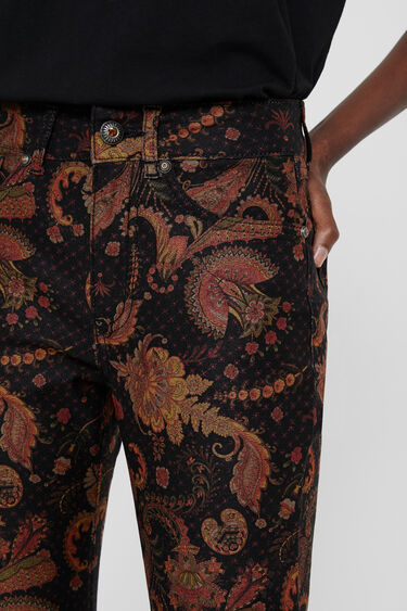 Skinny ethnic trousers | Desigual