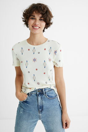 T-shirt viscose imprimé boho