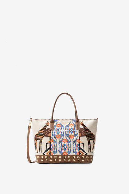 African embroidered print bag