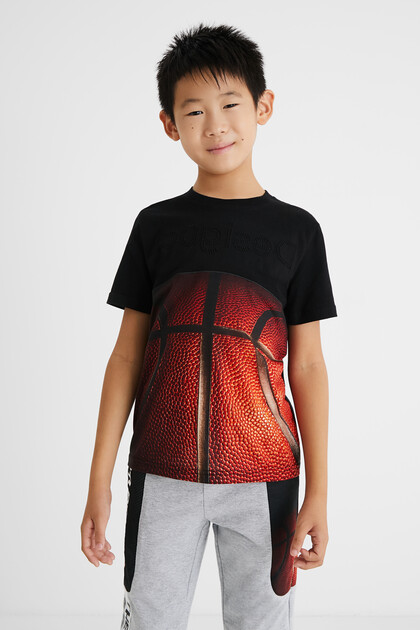 T-shirt basket ball 100% coton