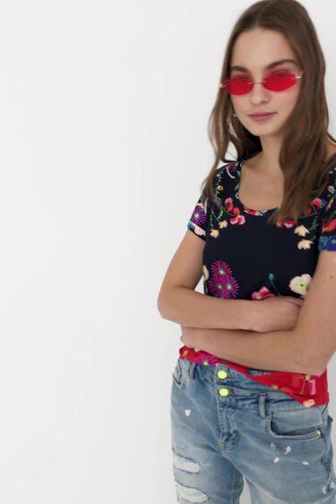 T-shirt imprimé floral tropical | Desigual