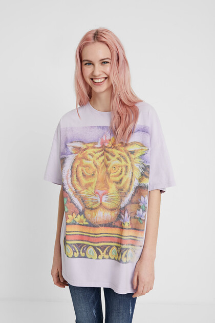 Unisex Hindu T-shirt with tiger