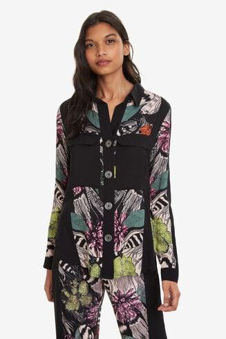 Geblümtes Hemd im Pyjama-Look Victoria