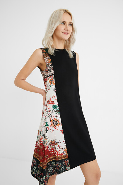 Flared asymmetric dress