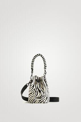 Bolso mini saco animal print