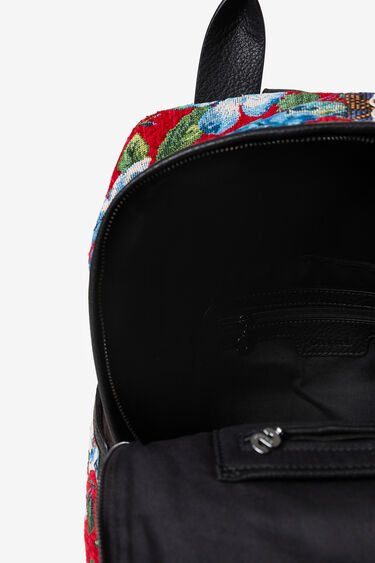 Tartan embroidered backpack | Desigual