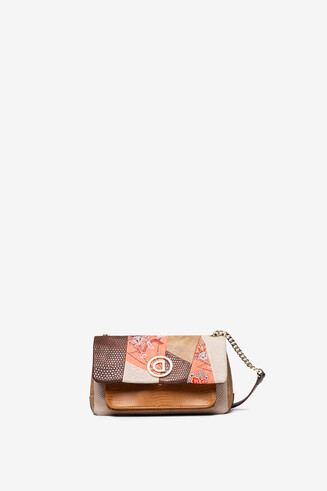 Boho bag reptile and floral patch