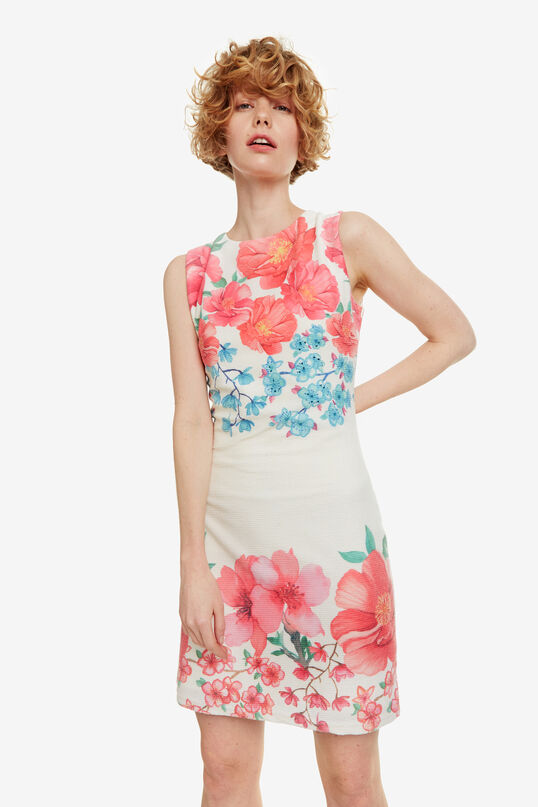Floral Short Fitted Dress Yaquel | Desigual
