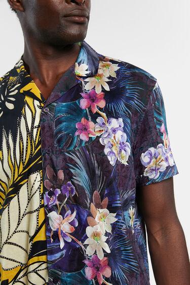Camisa mitja taronja estampat Hawaii | Desigual