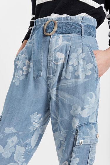 Texans florals de butxaques Tencel™ | Desigual