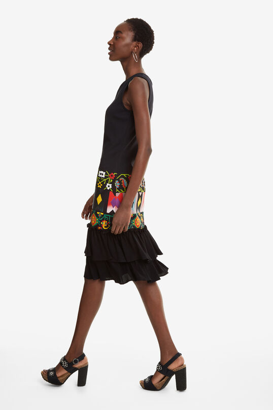 Ruffled Frieze Print Dress Elisabet | Desigual