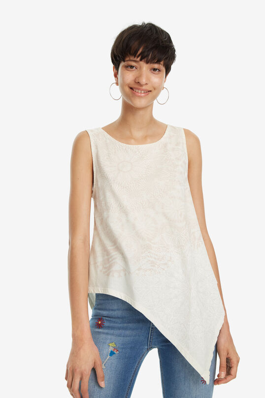 Asymmetrisches Shirt in Weiß Leeds   Desigual