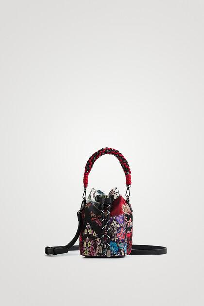 Mini-bag sack floral patch