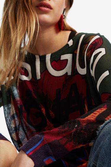 Fine gauge floral jumper | Desigual