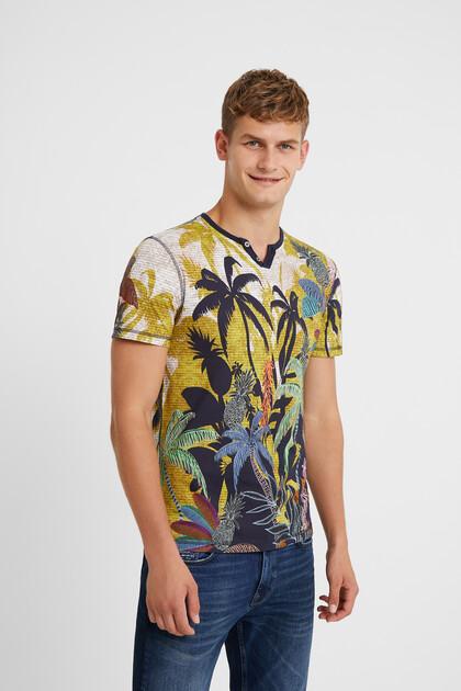 Buttoned neck T-shirt