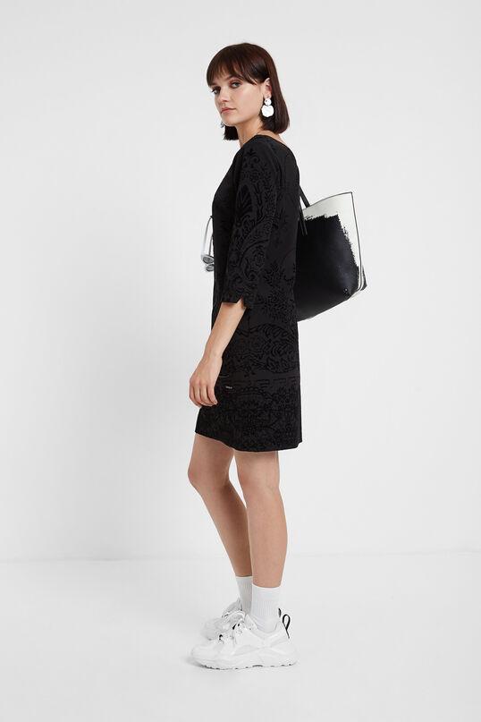 3/4 sleeve slim dress | Desigual