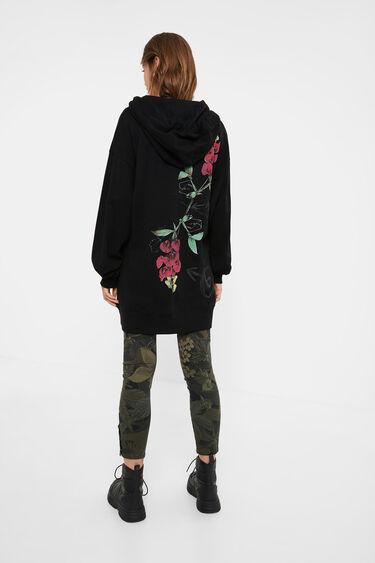 Oversize sweatshirt flowers | Desigual