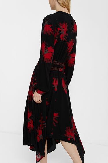 Evasé jurk met large mouw | Desigual